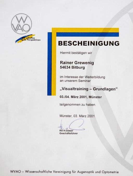 """""""Visualtraining – Grundlagen"""""""