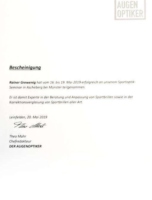 Sportoptik Seminar Ascheberg